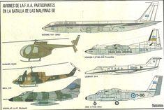 Aeronaves argentinas en Malvinas