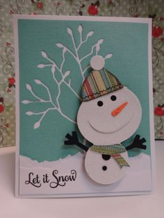 Snowman Card - Itsapassion on Etsy