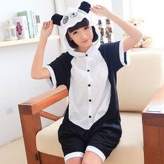 Cute Panda Adult Summer Kigurumi Onesies for Women   Men Panda Costumes e6fd91acb227b