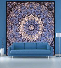 Buy beautiful star mandala tapestry online on handicrunch. #walltapestry #mandalatapestry #starmandalatapestry #homedecor #tapestry