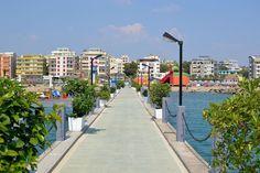 Pier in Durres, Albania