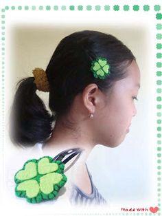 #DIY clover hair clips tutorial