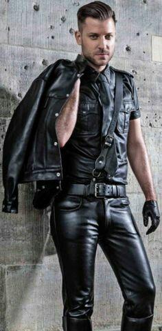 Sergen, model for RoB Stylish Mens Fashion, Suit Fashion, Leather Fashion, Leather Men, Black Leather, Leather Trousers, Leather Jacket, Stylish Jackets, Men In Uniform