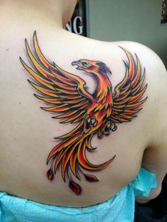 Fawkes the Phoenix - Harry Potter tattoo