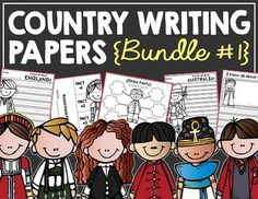 This bundle contains all 26 of my country/region writing paper sets that are available as of 8/4/15! These country themed writing pages can be used during a basic country study in lower elementary grades!