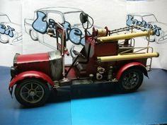 camión de bomberos en miniatura grande de metal (32 cm)  collections L. F.