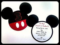 Invitaciones de Mickey Mouse por LilysPaperParty en Etsy