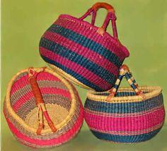 handmade Ghanian baskets