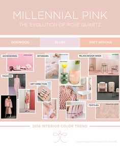 Interior color trends 2018 | millenial pink | fashion | interiors | home decor | paint colors | pink | rose quartz | pantone
