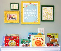 Twin Nursery Ideas: Gus and Lula: Wonder Wall (via Parents.com)