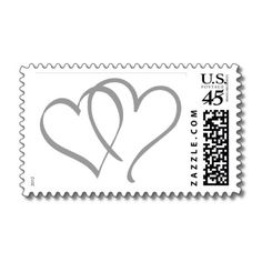 Silver/Gray/Grey Hearts Postage from http://www.zazzle.com/50th+wedding+anniversary+gifts