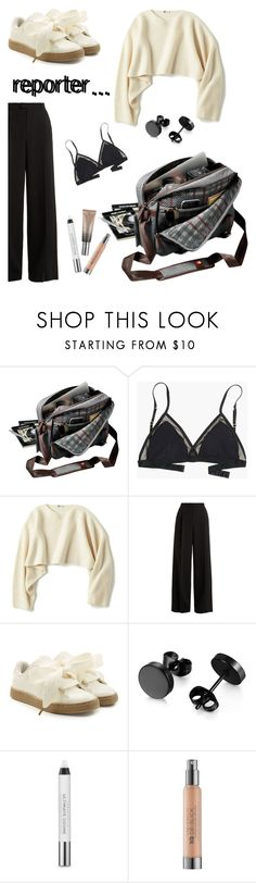 """""""I wanna be a reporter, what about you???"""" by she-fashionlove ❤ liked on Polyvore featuring Madewell, Uniqlo, RED Valentino, Puma and Urban Decay"""