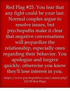 Top red flags in a relationship