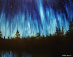 Northern Lights Painting - ..- Eugene Budden