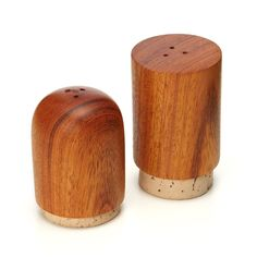 WOODEN SALT AND PEPPER SHAKER SET | wood seasoning, shakers | UncommonGoods