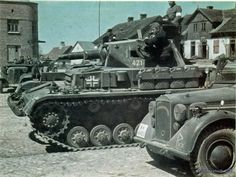 The technique of the German 6th Panzer division in East Prussia before the…