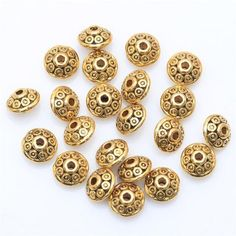 100PCS TIBETAN SILVER BEADS ANTIQUE METAL GOLD CONE PATTERN SPACER BEADS 6MM  $2.98 Free Shipping