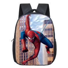 Cheap school bags, Buy Quality spiderman backpack directly from China student school bag Suppliers: Comics Hero Spiderman Backpack Children Super Hero spider Man School Backpacks Boys Cartoon Superman Kids Students School Bags