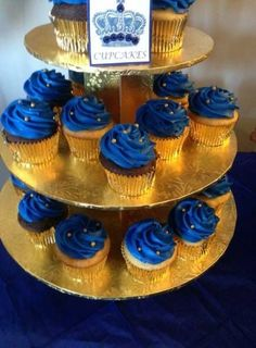 Trendy Baby Shower Ideas For Boys Decorations Prince Royal Blue Baby Shower Cakes, Baby Shower Themes, Baby Boy Shower, Baby Shower Decorations, Shower Ideas, Royal Baby Shower Theme, Shower Centerpieces, Balloon Decorations, Prince Birthday Theme
