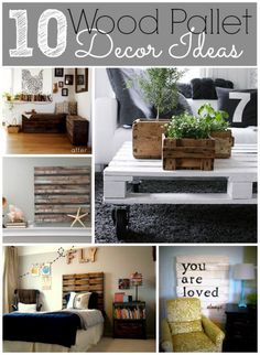 10 Wood Pallet Decor Ideas | MyBlessedLife.net