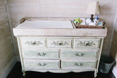 baby changing table topper station by thehillathopewell on Etsy, $100.00
