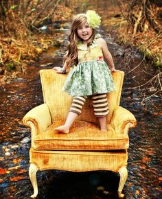 Colors. Old chair. Great smile. what more can you add to a perfect picture?