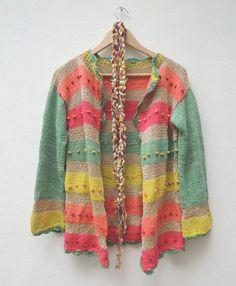 Saco manga larga multicolor