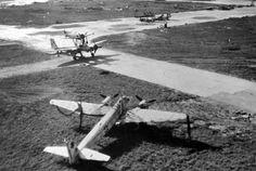 Des « Mistel » (versions d'entrainement) capturés sur l'aérodrome de la ville de Bernbourg (Bernburg), courant 1945.