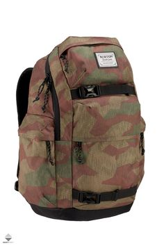 Burton Kilo Backpack with Laptop Compartment and Skate Straps Through The Roof, Burton Snowboards, Skater Girls, Camo Print, Snowboarding, Backpack Bags, Trekking, Skateboard, Laptop