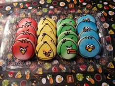Angry Bird party mini cannolis