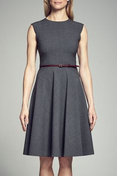 Get the perfect A-line dress for the office- the Toi. This stunning dress is made of silky-soft, lightweight tropical wool and is now available in Graphite.