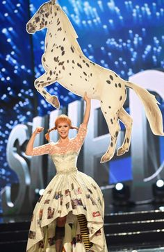Miss Universe contestant Ida Ovmar of Sweden presents during the national costume and preliminary competition of the Miss Universe pageant at the Mall of Asia arena in Manila on January 26, 2017. Picture: AFP PHOTO / TED ALJIBE
