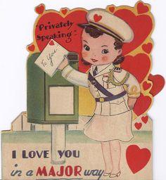 Valentine's day-Vintage Card