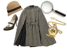 last minute halloween costumes. GIRL SLEUTH: You don't need to be a private eye to sniff out components for this detective costume! Detective Outfit, Detective Costume, Sherlock Holmes Kostüm, Nancy Drew Costume, Colegio Ideas, Peaky Blinders, Vintage Outfits, Vintage Fashion, Last Minute Halloween Costumes