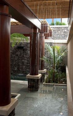 pool shower garden best outdoor showers ideas on baby. modern outdoor shower modern outdoor shower design ideas using white stone wall also built in Outdoor Bathrooms, Outdoor Rooms, Outdoor Living, Outdoor Showers, Indoor Outdoor, Exterior Design, Interior And Exterior, Tropical Bathroom, Tropical Showers