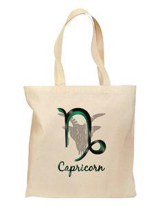 Capricorn Symbol Grocery Tote Bag