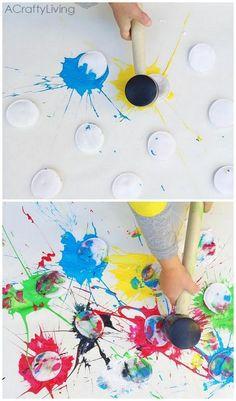 L'action art per bambini, ovvero Jackson Pollock completamente rivisitato L'action panting fu una tecnica inventata dagli espressionisti americani...