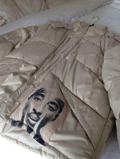 Tupac inspired down coat by DeeDeesiShop on Etsy
