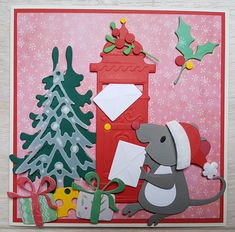 Cute Mouse, Marianne Design, Diy And Crafts, Kids Rugs, Puppies, Winter, Cards, Decor, Winter Time