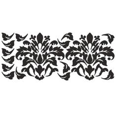 RoomMates Damask (Black) Peel & Stick Wall Decals at Menards Black Room Decor, Black Rooms, Wallpaper Stores, Cool Wallpaper, Expensive Wallpaper, Wallpaper Borders, Pink Damask Wallpaper, Damask Stencil, Stencil Patterns