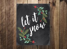 Christmas sign Christmas decor Winter Decor Let by TheDoodleCoop Chalkboard Pictures, Chalkboard Art Quotes, Chalkboard Lettering, Chalkboard Designs, Chalkboard Border, Blackboard Drawing, Chalkboard Decor, Chalkboard Drawings, Christmas Chalkboard Art