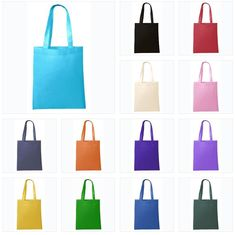 Set of 12 Mini Tote Bags with Handles for Crafts Bulk Pack White 6 x 6 Favor Bags Non-Woven Great for Decorating Goody Bags Favor Bags