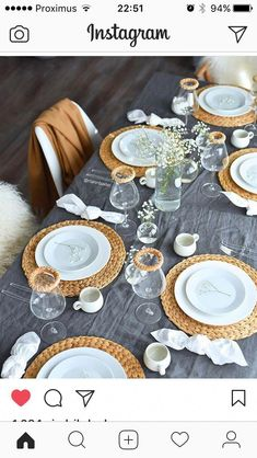 Discover more aboutdinner table decor gray Check the webpage to get more information. Discover more aboutdinner table decor gray Check the webpage to get more information. Dining Room Table Decor, Decoration Table, Casual Table Settings, Creation Deco, Table Set Up, Table Arrangements, Ideas Party, Wedding Table, Breakfast Ideas
