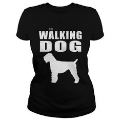 THE WALKING DOG BLACK RUSSIAN TERRIER T-Shirts, Hoodies ==►► Click Image to Shopping NOW!