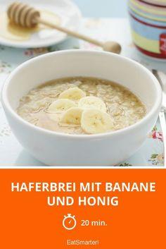 Haferbrei mit Banane und Honig | http://eatsmarter.de/rezepte/haferbrei-mit-banane-und-honig