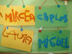 Teaching how to write their names
