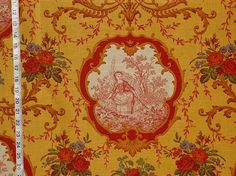 French Country fabrics | Pierre Deux yellow toile fabric French ...