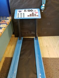 working out on our treadmill in our dramatic play area