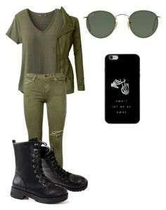 """Døn't let me be gøne"" by rhyancaughman on Polyvore featuring prAna, LE3NO, Current/Elliott and Ray-Ban"