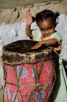 Little Africa Drummer in Ethiopia
